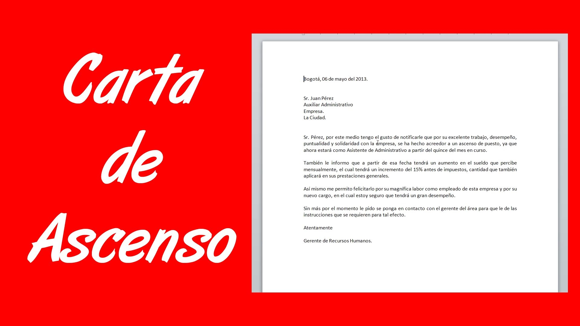 CARTA DE ASCENSO