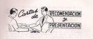 Recomendación y presentación personal (cartas)